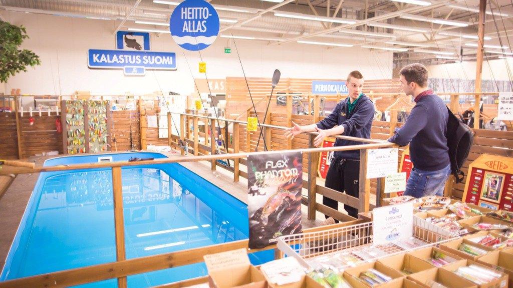 Магазин для рыболовов Kalastus Suomi. Фото: Visit Tampere / Laura Vanzo
