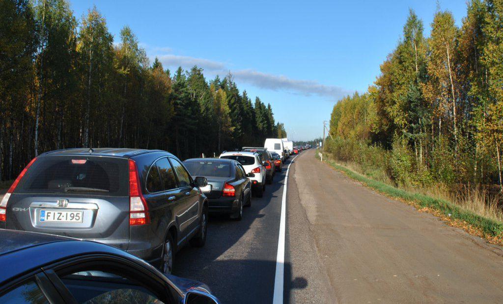 Очередь на финской границе