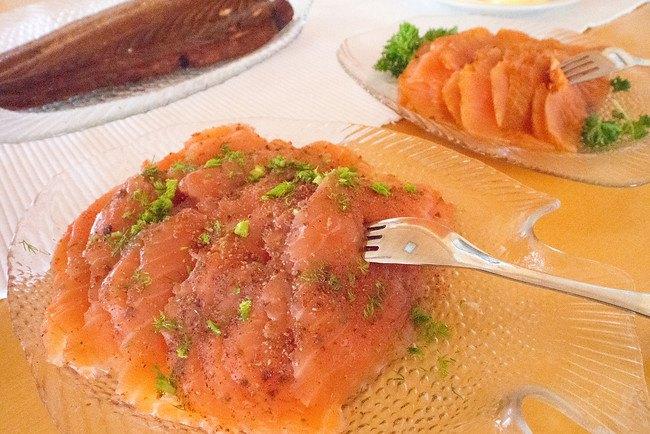 Лосось слабой соли - традиционное финское блюдо