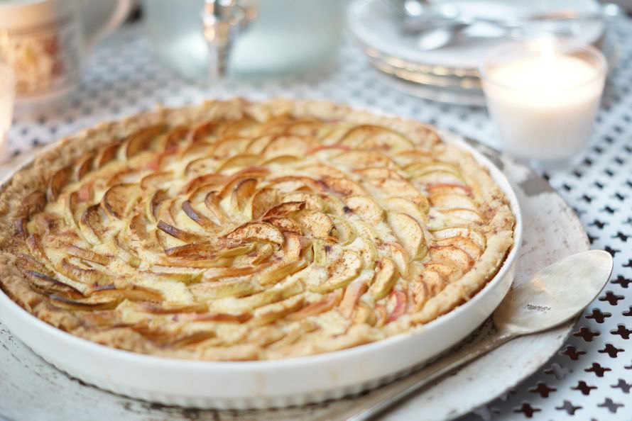 Яблочный пирог Omenapiirakka