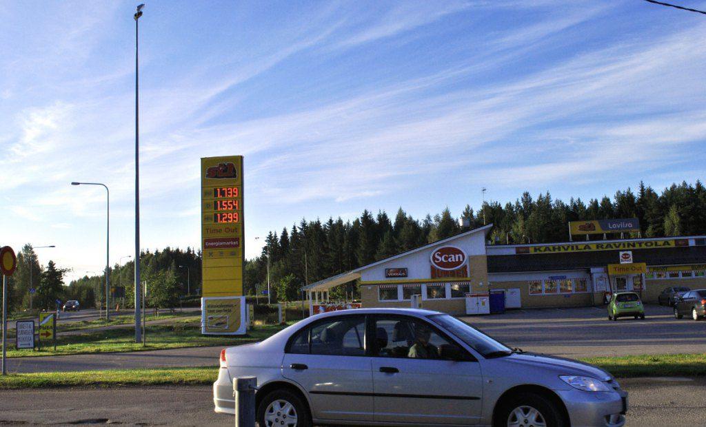 Цены на бензин в Финляндии
