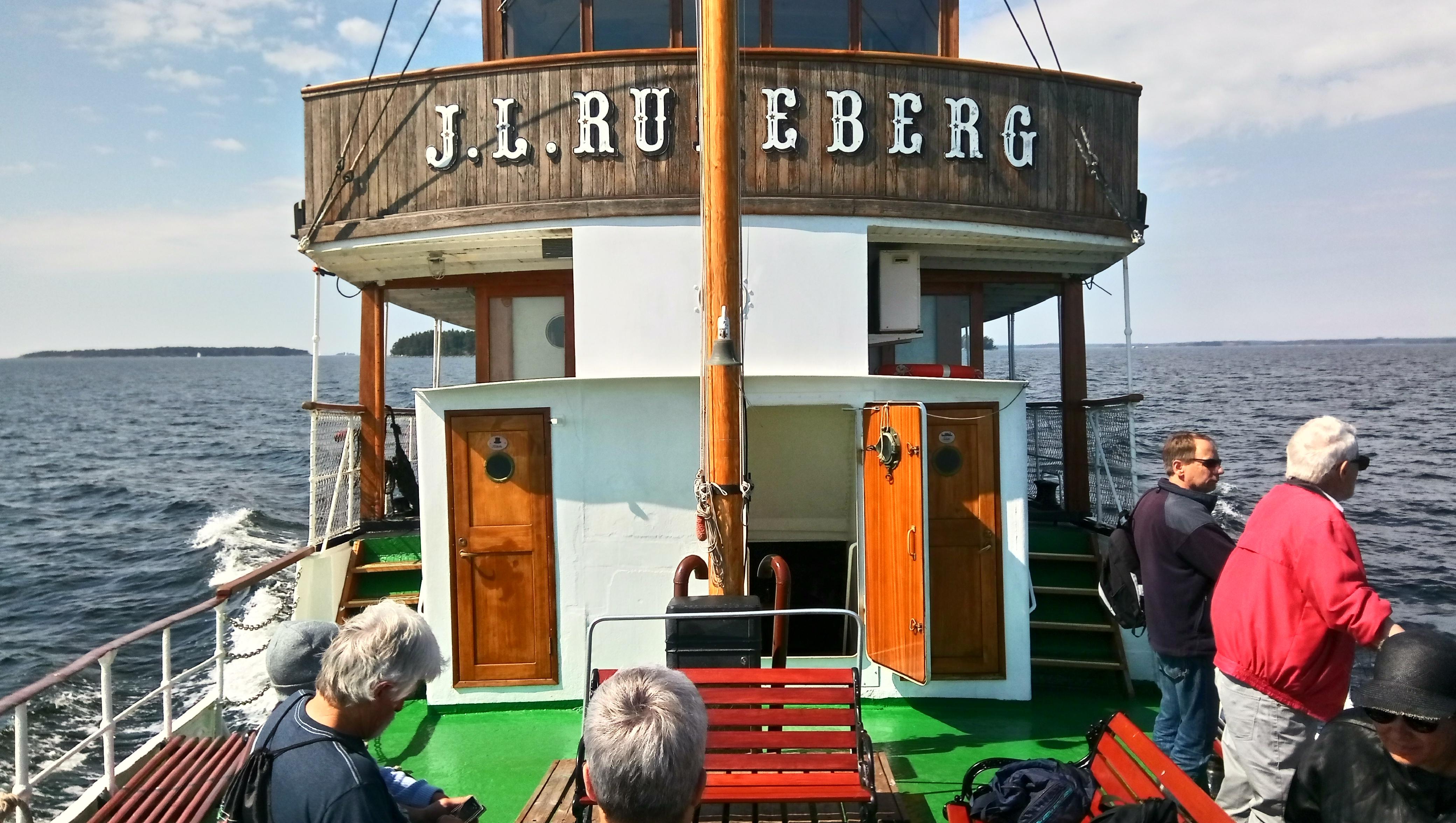 Вторая палуба на на m/s J.L. Runeberg